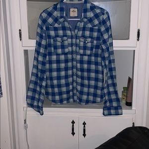 Plaid women's button up shirt